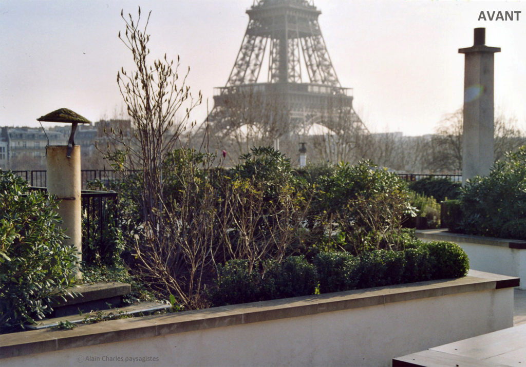 Terrasse parisienne avant nos travaux de jardinage